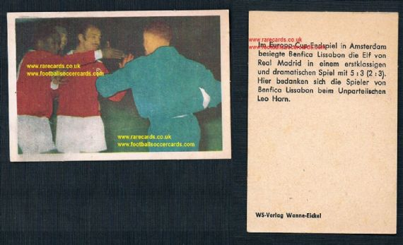 1962 Eusebio rookie card May 1962 Cup final on autumn 1962 WS Verlag from Wanne Eickel